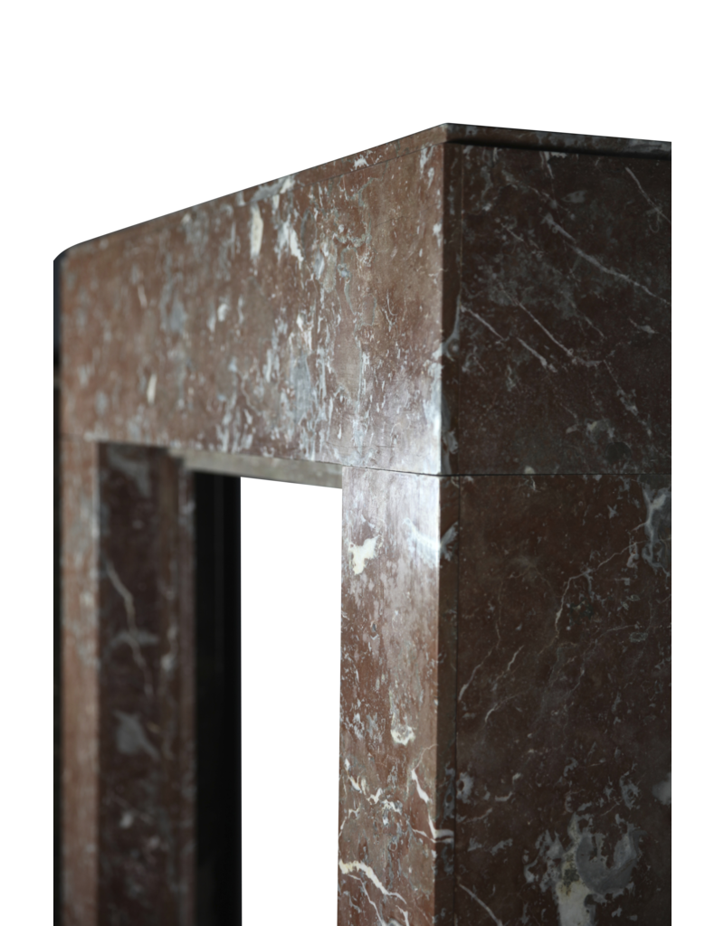 Art Deco Small Fireplace Surround In Brown Marble