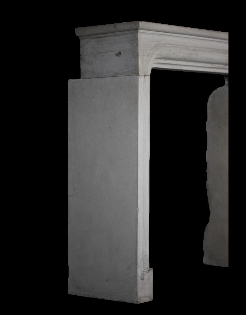 Cámara De Combustión Cuadrada De Piedra Caliza Antigua Chimenea