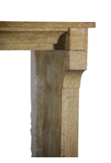Honey Color French Limestone Reclaimed Fireplace Surround