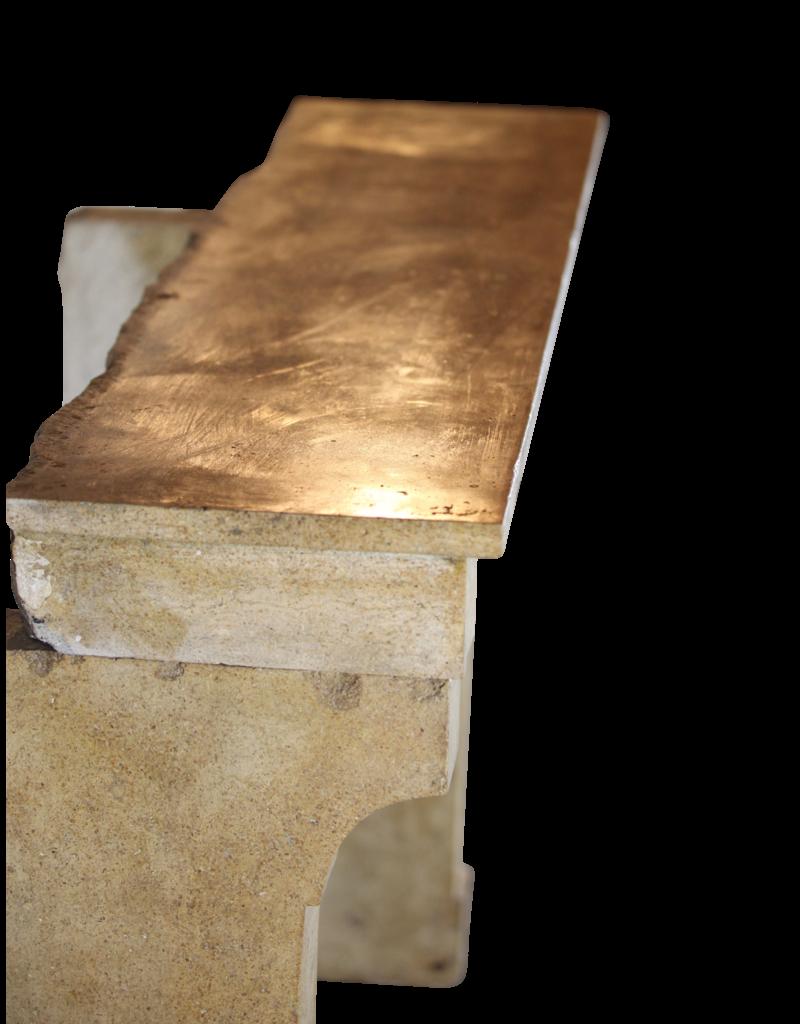 Honig Farbe Französisch Kalkstein Aufgearbeiteten Kaminmaske