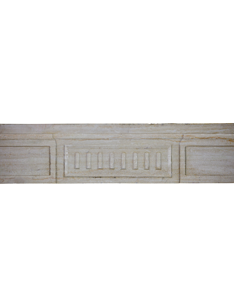 18Th Century Fine French Fireplace In Limestone