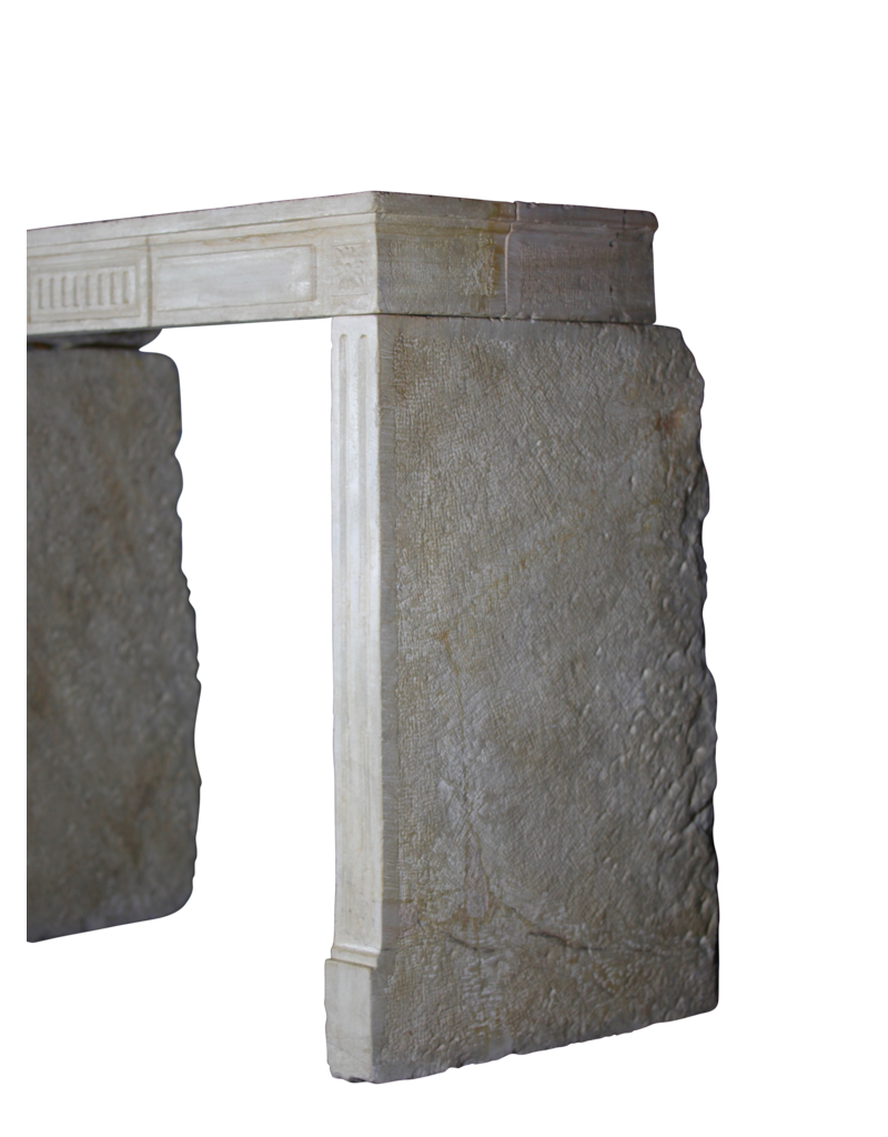 The Antique Fireplace Bank 18Th Century Fine French Fireplace In Limestone