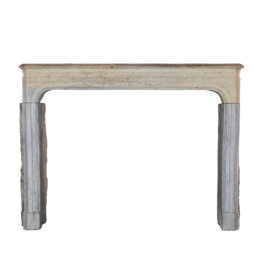 The Antique Fireplace Bank Bicolor LXIV Style French Antique Stone Surround