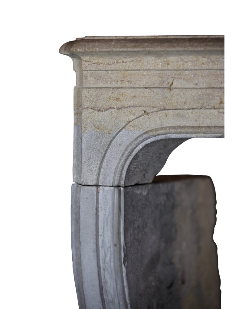 Zweifarbig LXIV Periode Französisch Antiken Stein Surround