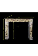 Louis Philippe Vintage Fireplace Surround In Brêche Marble