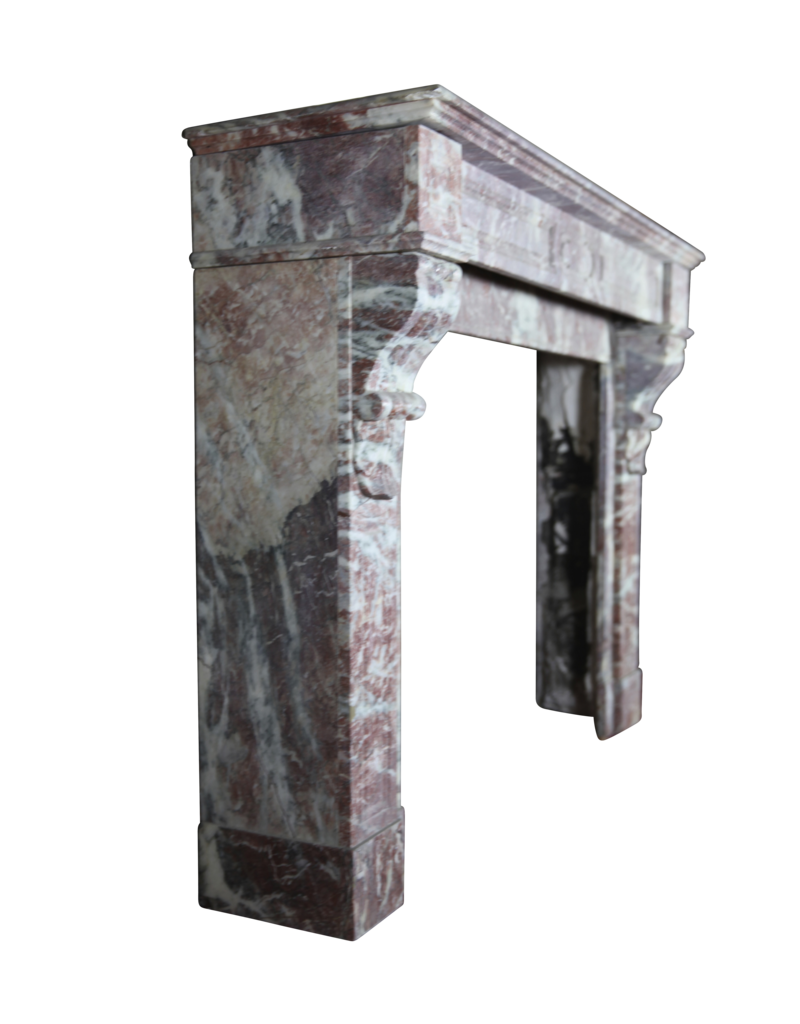 19Th Century Belgian Marble Fireplace Mantle