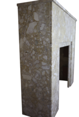 Art Deco Fireplace Surround In Brêche Marble.