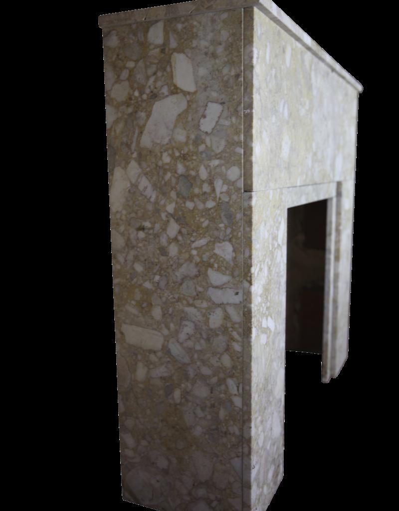The Antique Fireplace Bank Art Deco Kaminmaske In Brêche Marmor