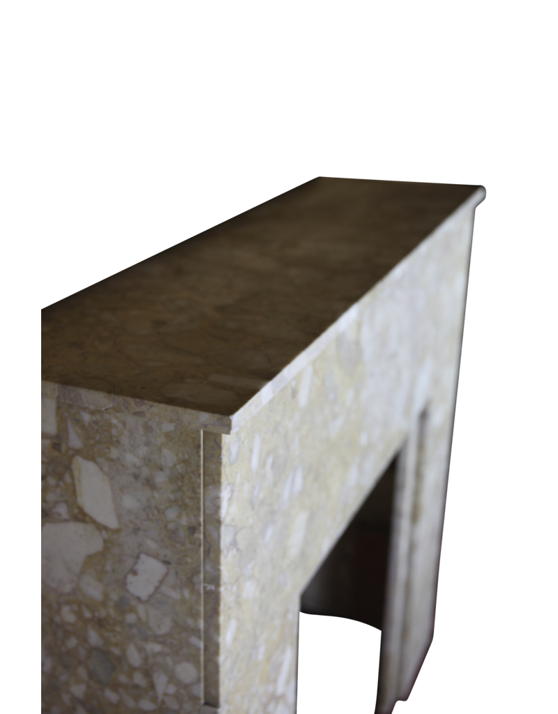 The Antique Fireplace Bank Art Deco Fireplace Surround In Brêche Marble.