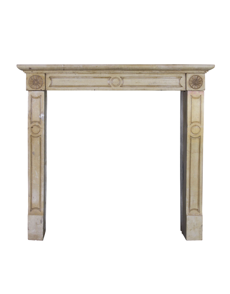 Honig Farbe Französisch Kalkstein Jahrgang Kaminmaske