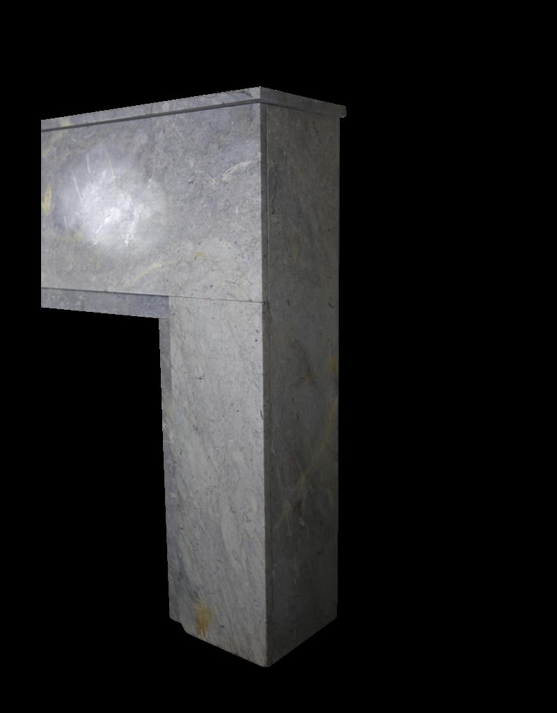 Art Deco De Piedra Pequeña Chimenea Surround