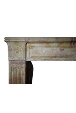 The Antique Fireplace Bank Französisch Original Zweifarbig Stein Jahrgang Kamin Verkleidung