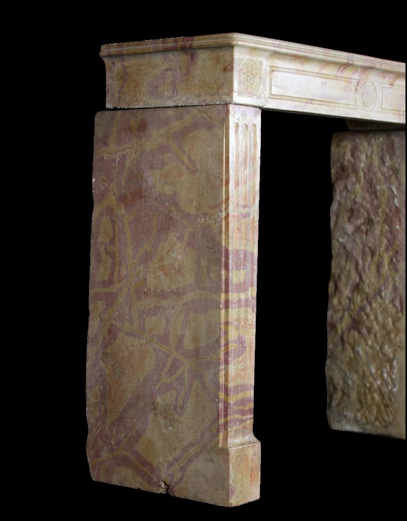 Französisch Original Zweifarbig Stein Jahrgang Kamin Verkleidung