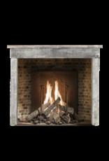Rustic Antique Reclaimed Farm House Limestone Fireplace Surround