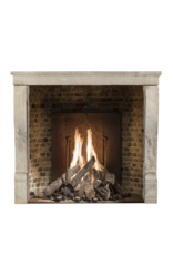 Small French Country Limestone Fireplace Surround