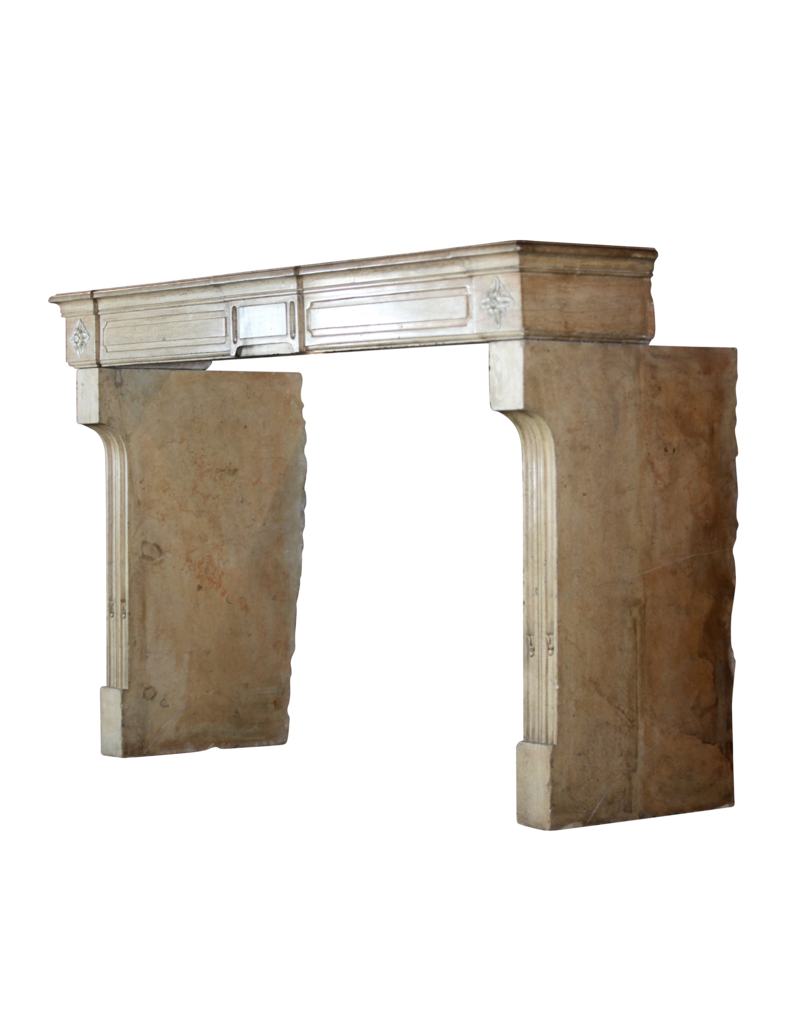 Classic French Limestone Fireplace Surround