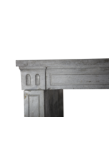 18Th Century French Grey Stone Vintage Fireplace Surround