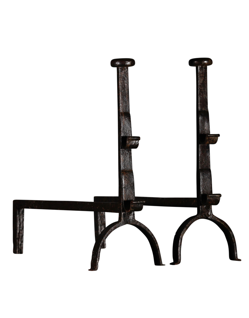 Siglo 17 Par De Morillos Antiguo Francés