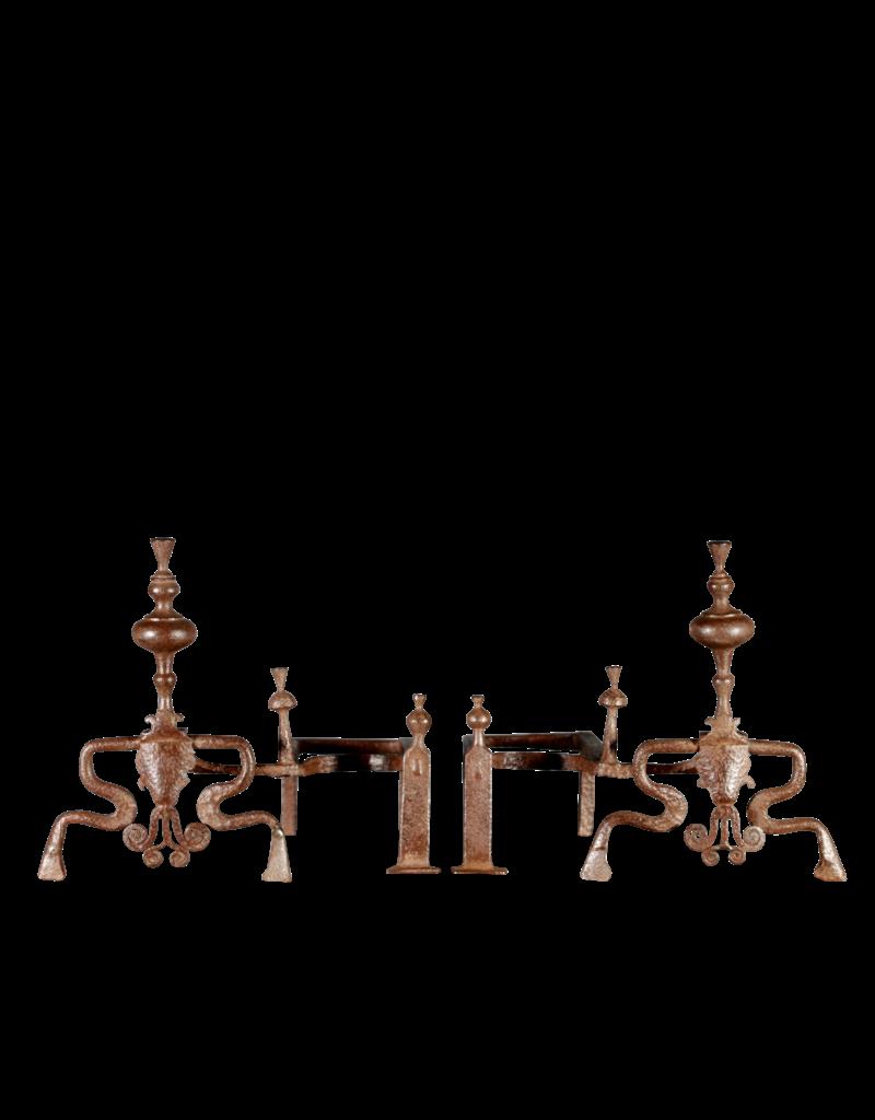 The Antique Fireplace Bank 18. Jahrhundert Periode Set Von Original-Feuerböcke
