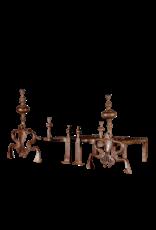 18. Jahrhundert Periode Set Von Original-Feuerböcke