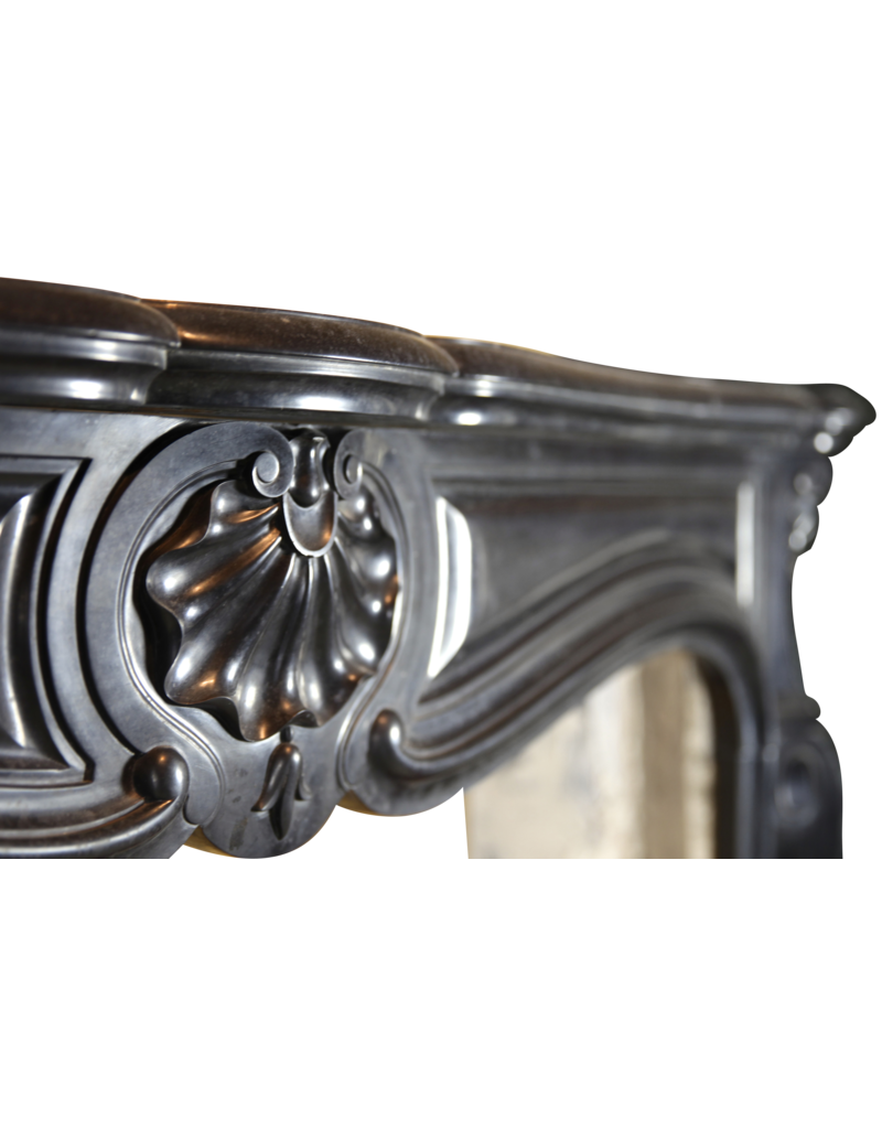 Classic Belgian Black Marble Fireplace Surround