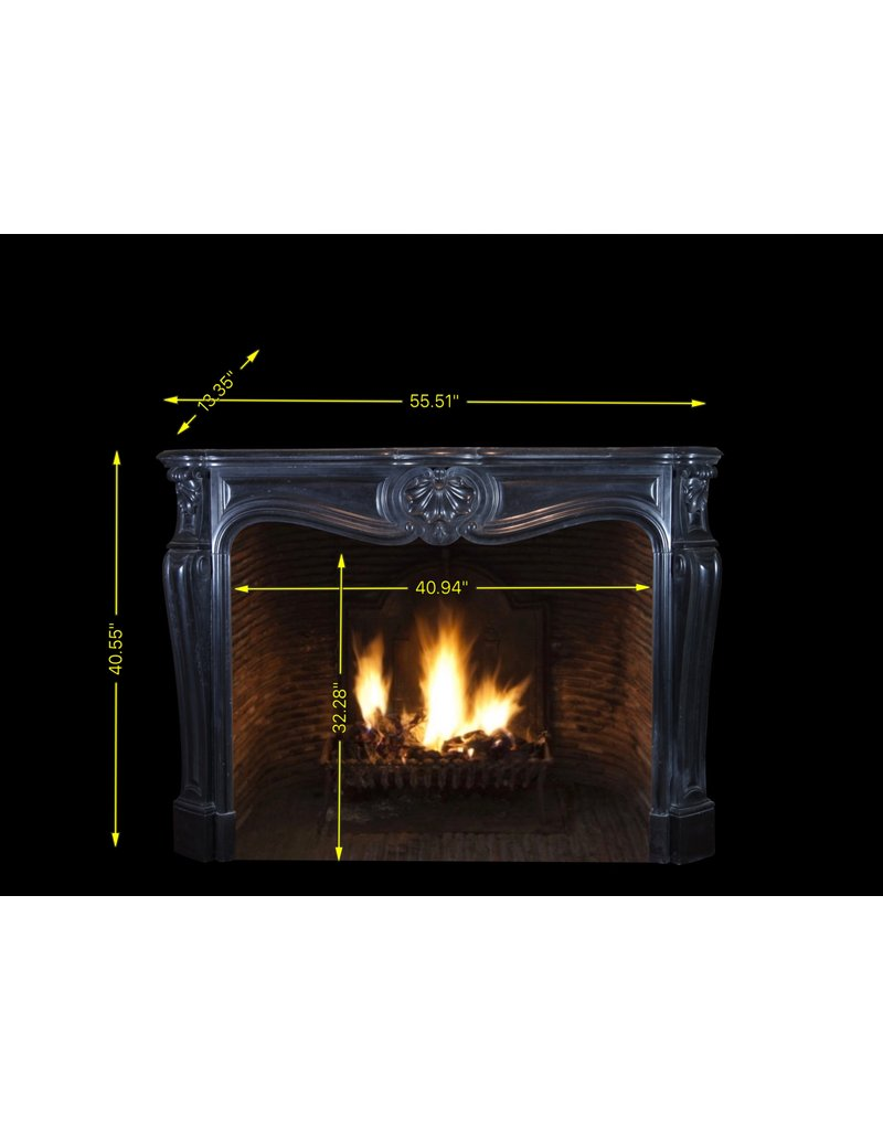 The Antique Fireplace Bank Classic Belgian Black Marble Fireplace Surround