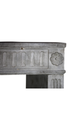 18Th Century Fine French Fireplace In Hard Bleu Stone