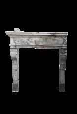 Französisch Rustic Louis Xiii Periode Kalkstein Kaminmaske
