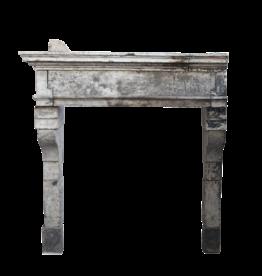 French Louis Xiii Period Limestone Fireplace Surround