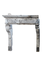 French Rustic Louis Xiii Period Limestone Fireplace Surround