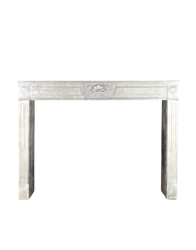 The Antique Fireplace Bank 18Th Century French Fireplace In Hard Limestone