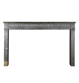 Wide French Stone Fireplace Surround