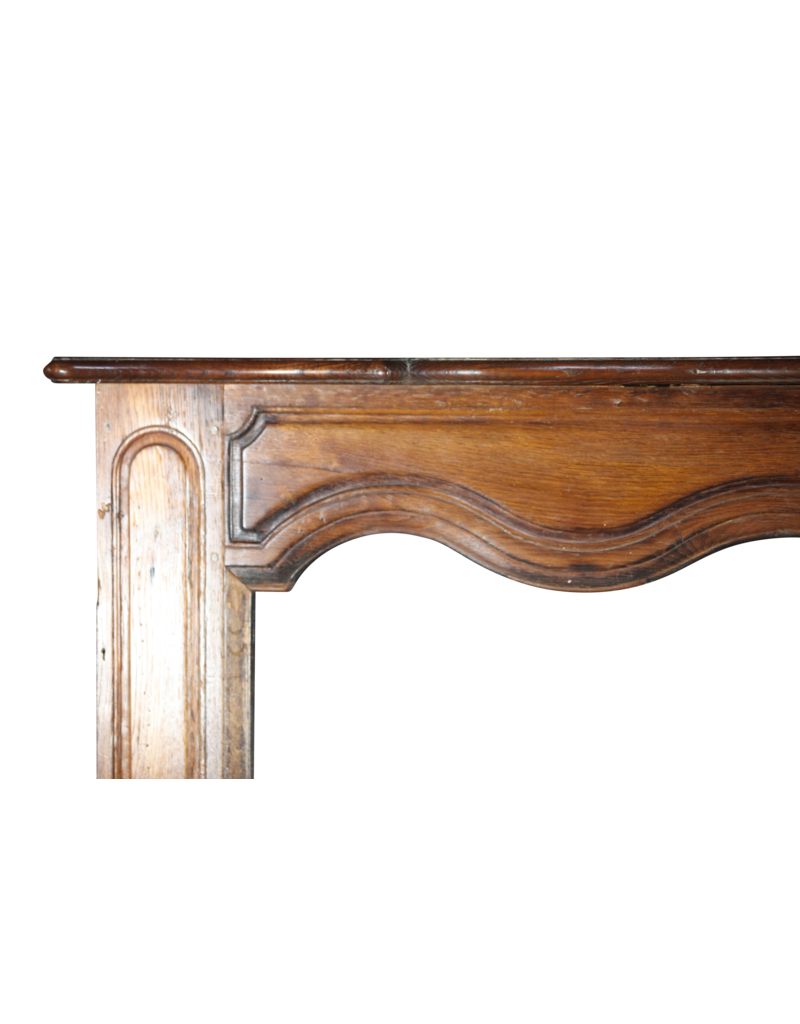 French Rustic Fireplace Surround In Oak