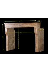 Fine Deep And Rich Color Vintage Fireplace Surround In Stone