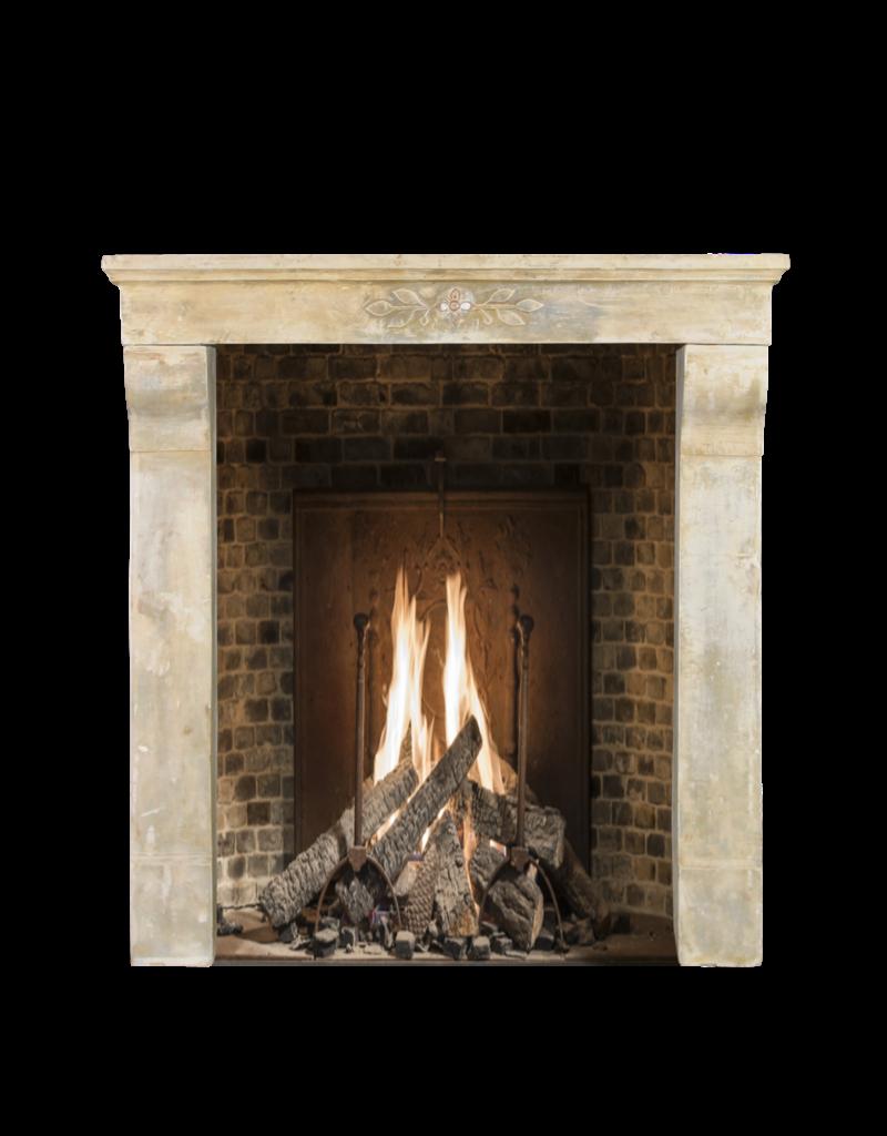 The Antique Fireplace Bank Jugendstil Periode Kalkstein Jahrgang Kaminmaske