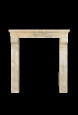 Art Nouveau Period Limestone Vintage Fireplace Surround