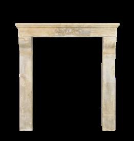 Art Nouveau Limestone Vintage Fireplace Surround