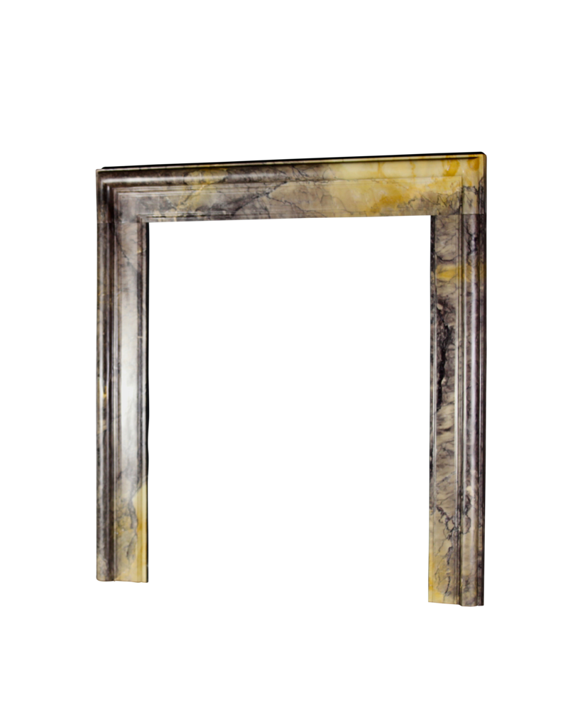 Rich Color Full Marble Bolection 20Th Century Fireplace Surround