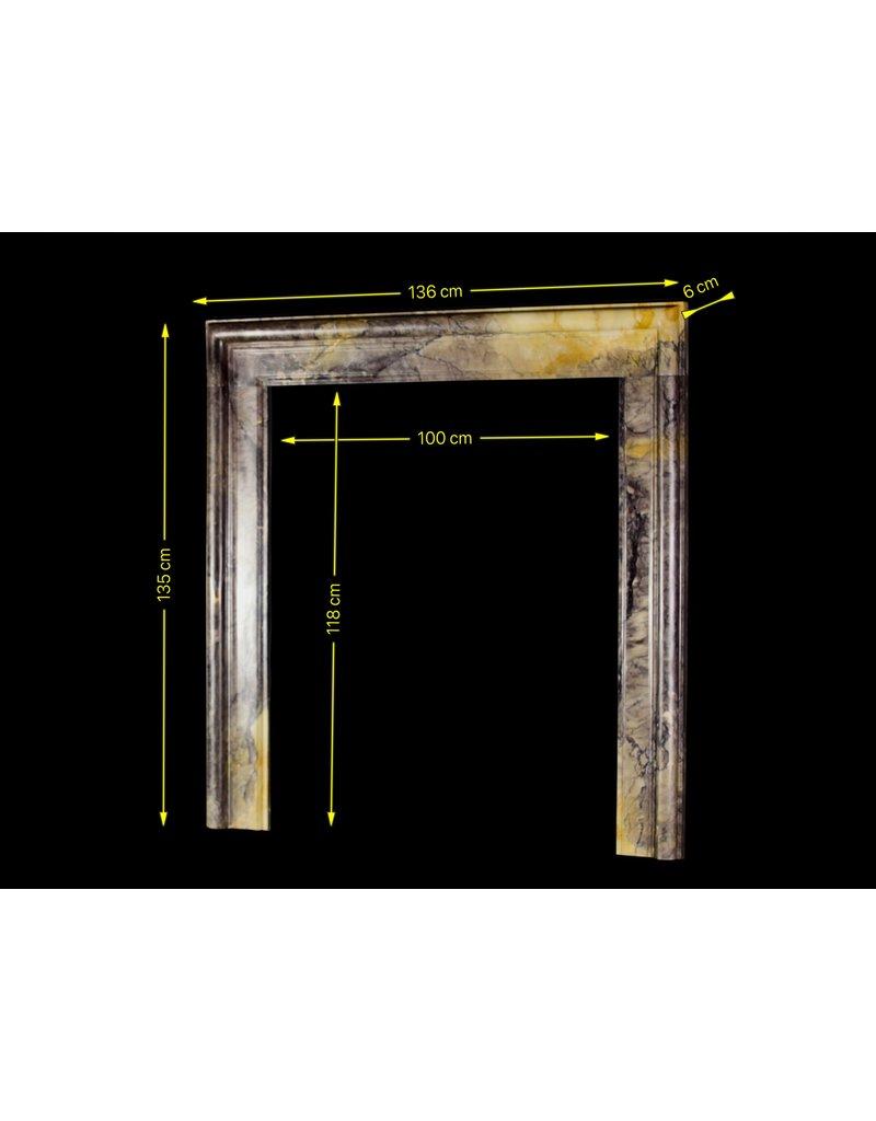 The Antique Fireplace Bank Reiche Farben Voll Marmor Bolection Des 20. Jahrhunderts Kaminmaske
