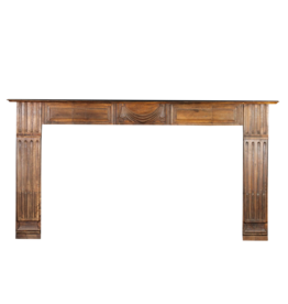 19Th Century Wooden Fireplace Surround