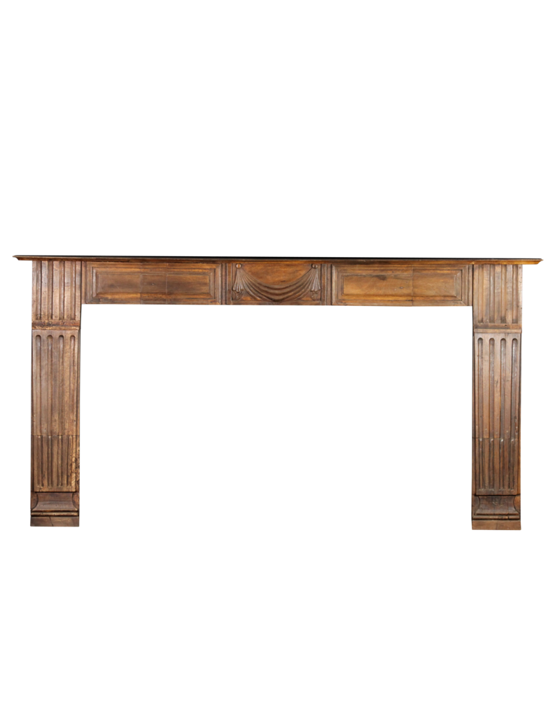 19Th Century Wooden Fireplace Surround From France