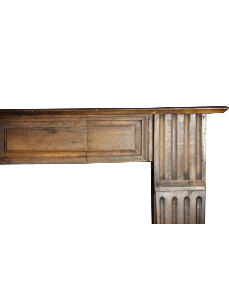 The Antique Fireplace Bank 19Th Century Wooden Fireplace Surround From France