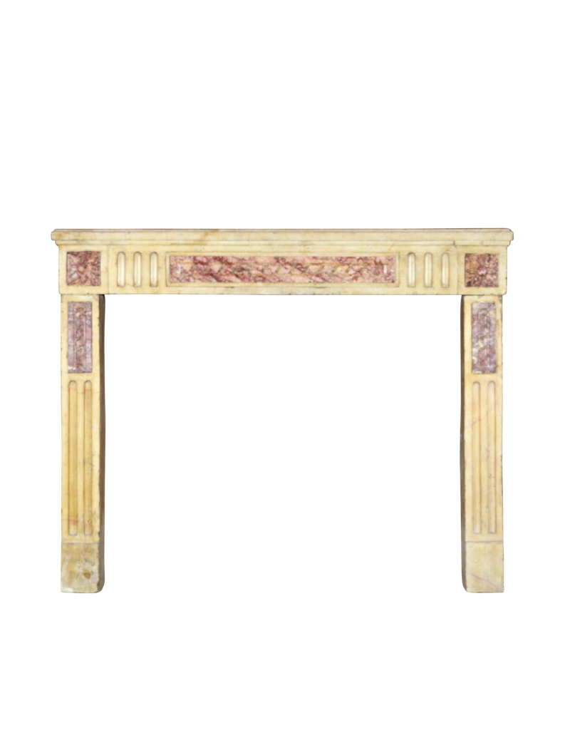 The Antique Fireplace Bank Klassische Französisch Zweifarbig Kalkstein Und Marmor Kaminmaske