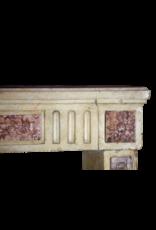 Klassische Französisch Zweifarbig Kalkstein Und Marmor Kaminmaske