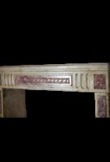Clásica Francesa Bicolor Piedra Caliza Y Mármol Chimenea