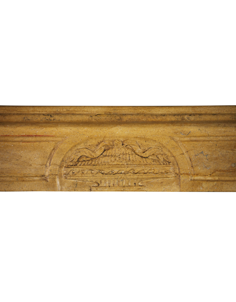 Delicate Louis XVI Style Vintage Fireplace Mantle