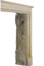 Französisch Zeitlose Vintage-Kalkstein Kaminverkleidung