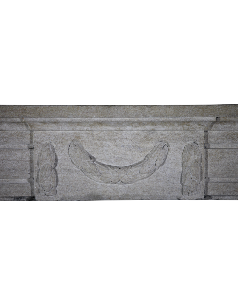 The Antique Fireplace Bank Classic French Fireplace In Hard Limestone