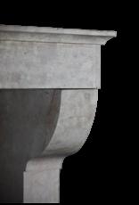 Fine French Rose Liseron Antique Fireplace Mantle