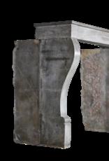 Zeitlose Zweifarbig Französisch Vintage-Kamin Verkleidung